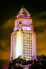 Los Angeles City Hall (Thomas Hawk) Tags: america california cityhall losangeles losangelescityhall usa unitedstates unitedstatesofamerica purple fav10 fav25 fav50