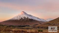 Pinky Peak (RabbieJT) Tags: scottish mountains munro sunset snow dusted dust last light loch lomond beinn odhar