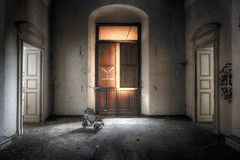 """ Destiny..."" (Giovanni Cedronella) Tags: abandoned architecture shadows dust dreem decay door forgotten urbex"