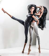 the cat fight dance (dollsalive) Tags: doll fashionroyalty fashionroyaltydoll made move dolls dancing
