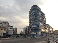 Havana, Cuba (jericl cat) Tags: building art architecture modern night skyscraper evening apartments apartment dusk walk havana cuba moderne malecon cuban biennale biennial miccentury