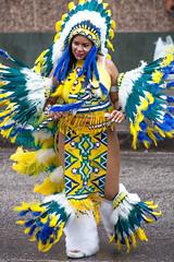 Yellow Blue and Green _5732 (hkoons) Tags: carnival festival fun island beads dance costume feathers parade enjoy trinidad caribbean indians enjoyment portofspain nativeamericans headdress antilles nativepeoples streetparty caribbeansea constumes trinidadandtobago windwardislands lesserantilles fancyindians traditioanlparade nostalgicparade
