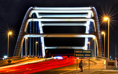 Night Bridge (SirStef) Tags: bridge light night nashville tennessee streaks