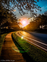 Down the Road (DonMiller_ToGo) Tags: sunset sky panorama lake nature reflections landscape florida sunsets panoramic g5 skyscapes hdr goldenhour onawalk skycandy 5xp hdrphotography 5exposures hdrpanoramic millerville sunsetmadness sunsetsniper panoimages3