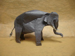 Asian Elephant (shuki.kato) Tags: elephant paper asian origami indian korean fold complex slope kato shuki ogami hanji