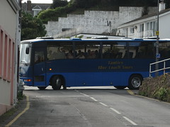 It takes two (Coco the Jerzee Busman) Tags: uk blue bus islands coach camo renault cannon jersey swift dennis tours dart channel leyland lcb plaxton tantivy