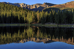 Dawn at Echo Lake (markalt) Tags: travel vacation lake color reflection art canon photography photo colorado colorful unitedstates rockymountains usavacation