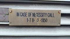 In Case Of Necessity (Joe Shlabotnik) Tags: cameraphone sign necessity 2015 galaxys5 september2015