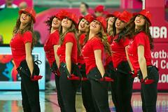 Cheerleaders at a basketball game in Spain (Robin Isacsson) Tags: basketball spain cheerleaders eurocup