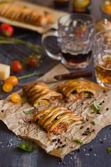 IMG_5839_exp-3 (Helena / Rico sin Azcar) Tags: cheese tomato ham basil puffpastry tomate oregano mozzarella organo jamn hojaldre albahaca