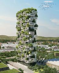 Проект небоскреба La Tour Des Cedres в Лозанне от Stefano Boeri Architetti