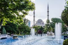 Konya - Haci Veys Zade Mosque From Cultural Park Sultanah Caddesi (Le Monde1) Tags: park turkey nikon islam mosque sultan caddesi turkish dervish anatolia moslem whirlingdervishes culturalpark kltr sinanpasha d7000 lemonde1 hasanpasha haciveyszade sultanahcaddesi fatmahtun