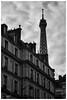 Au dessus de nous (MF[FR]) Tags: city blackandwhite paris france building tower architecture clouds europe tour noiretblanc cloudy samsung eiffel nuage iledefrance ville nuageux nx1 baladesparisiennes