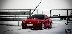 mazda rx8 (winterdubass) Tags: winter red snow cars ice car fun mazda rx8 drifting drift snowfun checkthisout icedrift wdls dubass