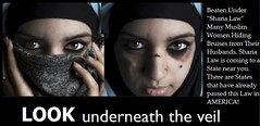 LOOK underneath the Veil. The Face of Shariah A Picture Says a Thousand Words. America You have Been Warned. (RowdieRiot) Tags: homes get men dogs look america death this living photo words fight hands women truth long do veil with god you error quote no name muslim islam tide fear faith lies picture like lord rape here been we already want have believe terror his wife killed law but states another then underneath colleges schools coming says fearful say beaten isis obama less thousand okay treated islamic mocked kicked jihad teachings revealed warned dishonor boldness lookunderneaththeveilhusbandsintheislamicfaithbelieveitisokaytobeattheirwifeandanywomen