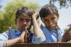 The Likely Lads (bighands@yahoo.com) Tags: travel portrait india nikon schoolboys d3200 sigma18250mm