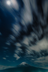 Under the Moonlight (Yuga Kurita) Tags: longexposure nature japan clouds landscape nikon long exposure fuji mt mount fujisan fujiyama d810a 2470mmvr