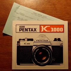 Christmas 1978 (jmaxtours) Tags: christmas camera slr film asahi pentax k1000 pentaxk1000 1978 filmcamera singlelensreflex asahipentax ownersmanual warrantycard asahipentaxk1000 christmas1978