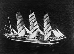 135; Sailing Ship, Pamir, Wellington Harbour - Circa 1940 (Wellington City Council) Tags: wellington historicwellington 1800s 1900s 1950s