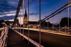 Bridge (neal1973) Tags: church bridge lights long exposure night twilight evening england uk light road car suspension