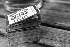 Tickets. (Billy Court Photography) Tags: brighton beach tickets arcade blackandwhite sun summer england fun pier