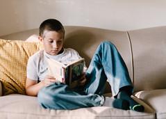 reading time. (Brandy Jaggers) Tags: boy everydaybeauty everydaylife indoor kid naturallight nikon50mmf14 nikond700 reading reallife windowlight
