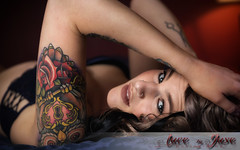 Lady J (jasoncstarr) Tags: boudoir sexy hot gorgeous beautiful stunning sexual sensual girl woman female tattoos tatts ink inked sleeve canon canoneos6d lingerie bra undies panties owltattoo owl hair eyes eyelashes undercut hairextensions armidale