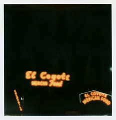 El Coyote Neon (tobysx70) Tags: the impossible project tip polaroid slr680 frankenroid sx70 door rollers film for 600 type cameras instant impossaroid el coyote mexican cafe beverly blvd boulevard los angeles la california ca neon sign lit illuminated night nocturnal restaurant bar food cocktails margarita toby hancock photography