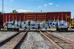 (o texano) Tags: houston texas graffiti trains freights bench benching ich ichabod yme circlet