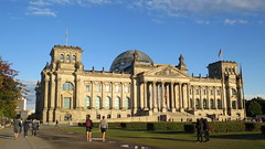 """The """"Reichstag"""" parliament building of Berlin [Explore 04/10/2016] (Sokleine) Tags: reichstag parlement parliament government gouvernement administration building bâtiment immeuble berlin germany deutschland allemagne history"""