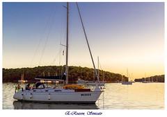 Sailing Life (E-Reason .) Tags: sailing boat sailingboat wind sunset life love relaxing shore croatia sea pause silence peaceful