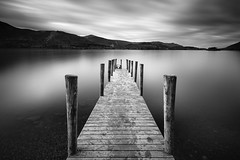 Ashness Jetty (Stu Meech) Tags: ashness jetty pier black white long exposure lake district cumbria