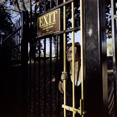 No Exit (george.bremer) Tags: 120 c41 epson exit film filmphotographyproject fpp gate kodak locked mamiya mamiya6 mediumformat newyork park portra400 scan sign trapped unicolor untermyer usa v750 westchester yonkers
