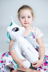 big eyes (Marina Roz) Tags: girl unicorn portrait blue sweet child children studio