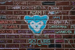 Go Cubs! (Joshua Mellin) Tags: chicagocubs wrigleyfield worldseries 2016 chalk graffiti chalkgraffiti w flythew cubswin stadium outside wrigley wrigleyville game7 tickets seats tv baseball mlb hope chicago champions championship 1908 108 fans chicagocubsworldseries worldseries2016