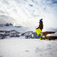 Alone in mountains (Zeeyolq Photography) Tags: adventure alone alpes alps mountains quiet randonne snow snowshoeing winter albiezmontrond france