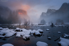 Yosemite Magic (rajaramki) Tags: yosemite winteryosemite yosemitesnow gatesofthevalley yosemitevalley yosemitesunset elcapitansunset