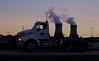(elisecavicchi) Tags: fuel smoke pollution smokestacks truck transport motion alignment moment pennsylvania pa road highway light evening dusk sundown nightfall truckbed september autumn