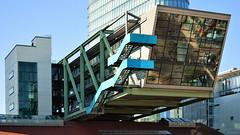 Rooftop (cokbilmis-foto) Tags: dsseldorf dusseldorf medienhafen mediaharbor media harbor harbour architecture building roof rooftop stairs stairway blue hive pec port seven event location nrw germany nikon d3300 nikkor 18105mm