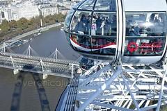 Thames and London Eye (veronicajwilliams photography) Tags: veronicajwilliamsphotography veronicajwilliams travelphotography travel canon canon5dmarkii canon2470mm canon2470mmf28l london uk britain londoneye city cityscape aerialphotography bridge thames riverthames river