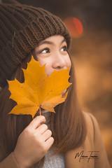 Whisper the leaf of Autumn (MarceeTenorioPhotography) Tags: autumnportraits 70200mmf28 canon5dmarkiii marceetenoriophotography marceetenorio