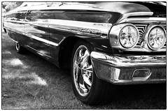 Galaxie 500 - Parsonsfield, ME (gastwa) Tags: nikon f6 58mm f14g afs prime lens kodak tmax 400 film black white bw blackandwhite monochrome analog car auto ford galaxie 500 parsonsfield maine newengland travel transportation andrew gastwirth andrewgastwirth reflection