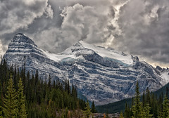 Mt. Chephren and White Pyramid (Philip Kuntz) Tags: mtchephren whitepyramid pyramidmountain icefieldsparkway stormy storm snow glaciers saskatchewancrossing banff banffnationalpark alberta