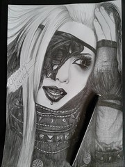 Haki (Giovana Draw/ ) Tags: portrait haki grey black white grafite graphite visual kei jrock desenho illustration