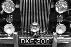 Intimacy (photoroberto) Tags: auto automobile car grille vintagecar blackandwhite bw monochrome light bumper