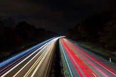 Lightpainting on Bridge (Tob von Lix) Tags: langzeitbelichtung nachtaufnahme night lightpainting regensburg highway autobahn bridge lichtspuren