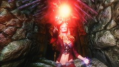TESV - Conjurer (tend2it) Tags: kenb elder scrolls skyrim v rpg game pc ps3 xbox screenshot sweetfx enb krista demonica race sg lilith 161 felicia arcane mage magic magik cast caster spell glow red green eyes mods
