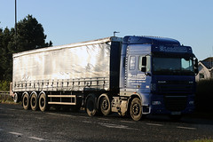 YP63 ZHJ (Cumberland Patriot) Tags: daf xf 105460 space cab yp63zhj steadmans warnell welton carlisle cumbria cumberland truck trucks wagon a595 thornhill