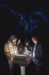 Once & Future Band Shoot - 02 - DSC01494 v04 (Japhy Riddle) Tags: sony a7rii band promotional promo outdoor trees night briefcase light shine shining once future