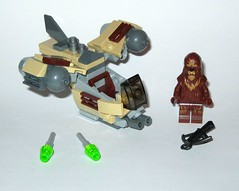 75129 1 lego star wars microfighters series 3 wookie gunship set 2016 b (tjparkside) Tags: 75129 1 lego star wars 2016 sw microfighters series 3 iii three wookie gunship kashyyyk ep episode 2 ii two attack clones revenge sith clone tcw aotc rots rebels missile missiles firing front guns back flap wing wings engine engines crossbow bowcaster weapon blaster disney set